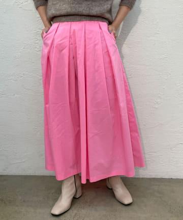 Omekashi(オメカシ) タックフレアロングスカート