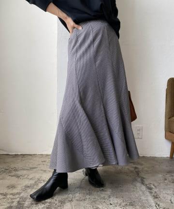 CAPRICIEUX LE'MAGE(カプリシュレマージュ) チドリチェックマーメイドスカート