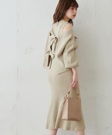 natural couture(ナチュラルクチュール) 【WEB限定・大好評リバイバルアイテム】セットアップガーリーニットワンピース
