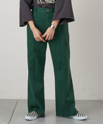 CIAOPANIC TYPY(チャオパニックティピー) ピンタック裾フリンジカラーチノパンツ