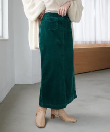 Discoat(ディスコート) 硫化染コーデュロイナロースカート
