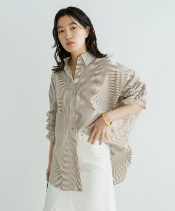 Loungedress(ラウンジドレス) ストライプBIGシャツ