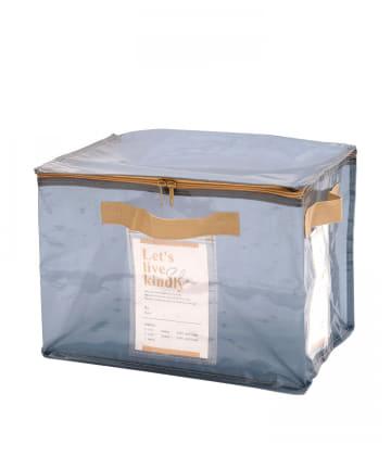 3COINS(スリーコインズ) 【衣替えやお部屋の整理に】フタ付きクリアワイドボックス