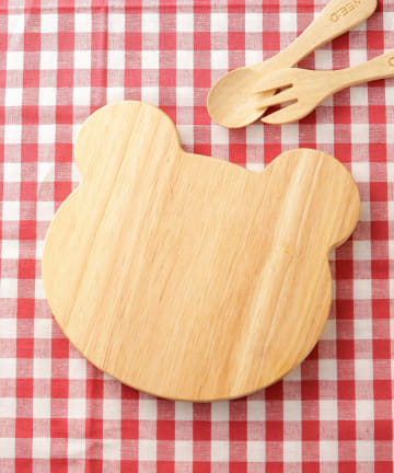 3COINS(スリーコインズ) 【食卓に木のぬくもりを】くまウッドボード