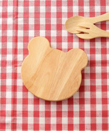 3COINS(スリーコインズ) 【食卓に木のぬくもりを】子ぐまウッドボード