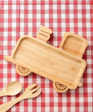3COINS(スリーコインズ) 【食卓に木のぬくもりを】機関車ウッドプレート