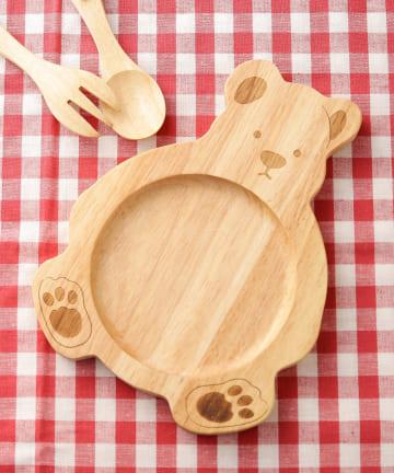 3COINS(スリーコインズ) 【食卓に木のぬくもりを】くまウッドプレート