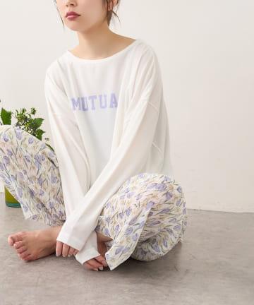 natural couture(ナチュラルクチュール) 【おうちナチュ】 シアバター加工ロゴT
