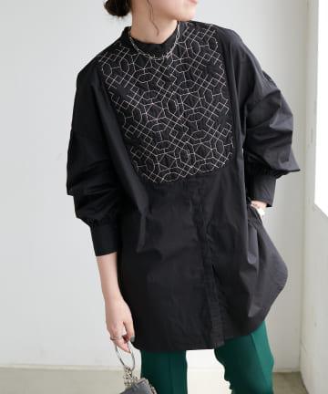 Discoat(ディスコート) キルト刺繍ビックシャツ