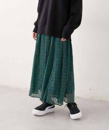 Lui's(ルイス) レースフレアロングスカート