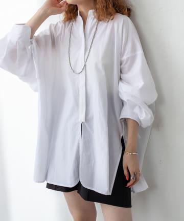 mystic(ミスティック) 袖タックデザインシャツ