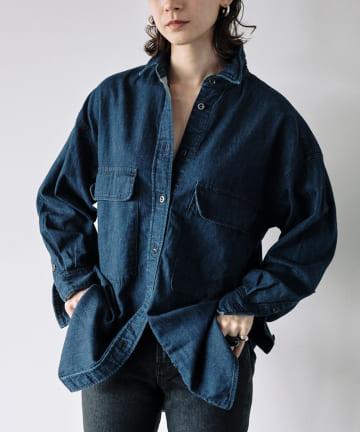 GALLARDAGALANTE(ガリャルダガランテ) 【YANUK】C.P.Oシャツ/INDIGO/別注