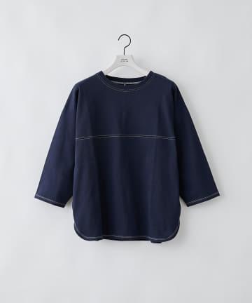 COLONY 2139(コロニー トゥーワンスリーナイン) COLOR KEEP配色ステッチ7分袖Tシャツ