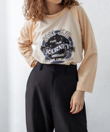 mystic(ミスティック) ラグランプリントTシャツ