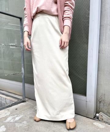 SHENERY(シーナリー) ランダムコーデュロイタイトマキシスカート