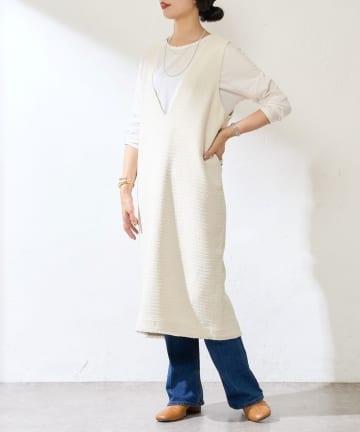 SHENERY(シーナリー) Vネックジャンパースカート