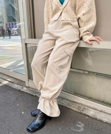Kastane(カスタネ) 【カタログ掲載アイテム】アンクルテープカーゴパンツ