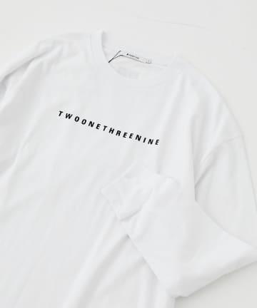 COLONY 2139(コロニー トゥーワンスリーナイン) 抗菌防臭USAコットンフロッキープリント長袖Tシャツ