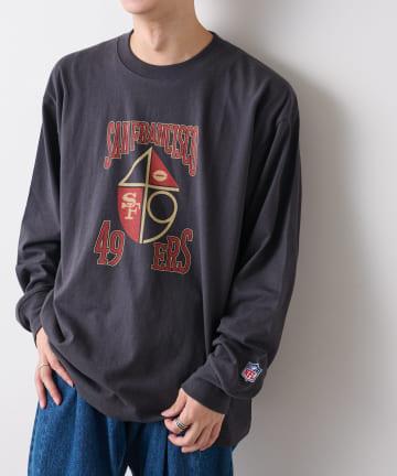 Discoat(ディスコート) 【ユニセックスで着用可能】NFL別注ロングTシャツ