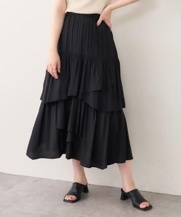 natural couture(ナチュラルクチュール) ランダムティアードおしゃれスカート