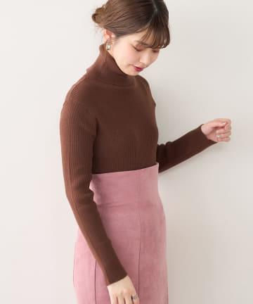 natural couture(ナチュラルクチュール) もちもちベーシックリブタートル