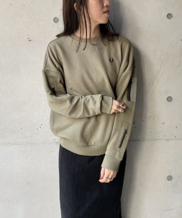 CAPRICIEUX LE'MAGE(カプリシュレマージュ) 〈WEB限定〉【FRED PERRY/フレッドペリー】 ポケットスエット
