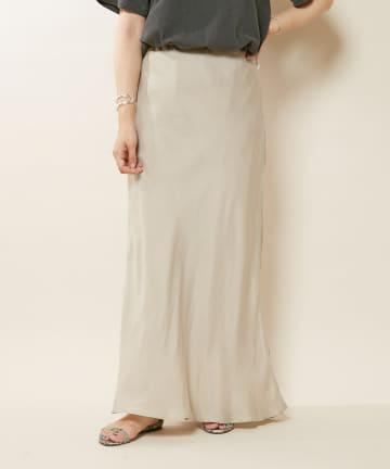 OUTLET(アウトレット) 【SHENERY】キュプラフィブリルマーメイドマキシスカート