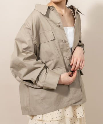 OUTLET(アウトレット) 【mystic】[mline] ミリタリーシャツジャケット