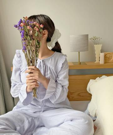 Lattice(ラティス) 【寝るときだってかわいく】ガーゼ2WAY SETUPルームウェア