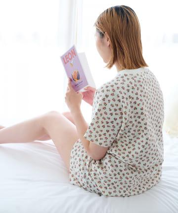 Lattice(ラティス) 【寝るときだってかわいく】サーマル花柄SETUPルームウェア