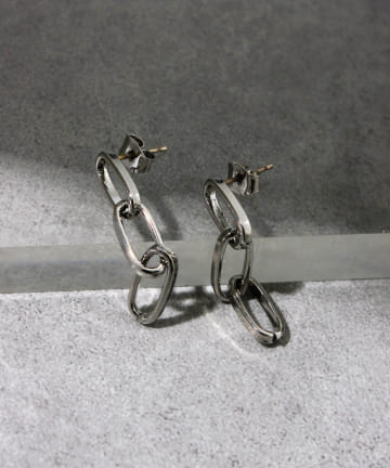 Lattice(ラティス) 【LesSignes】メタルチェーンピアス