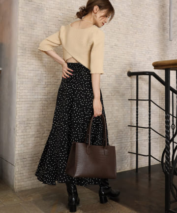 one after another NICE CLAUP(ワンアフターアナザー ナイスクラップ) 【Cherie chuu】design flare skirt