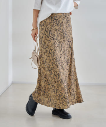 DOUDOU(ドゥドゥ) フラワープリントスカート