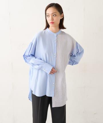 Lui's(ルイス) ストライプドッキングオーバーシャツ