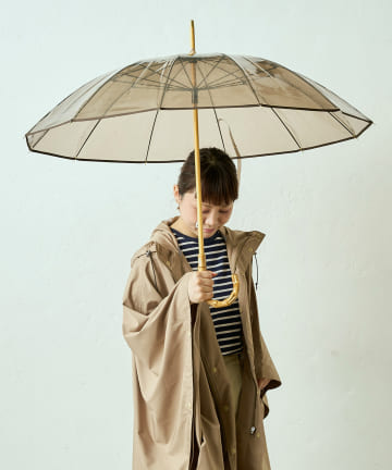 LIVETART(リヴェタート) 《Traditional Weatherwear》バンブークリア傘【WEB限定】