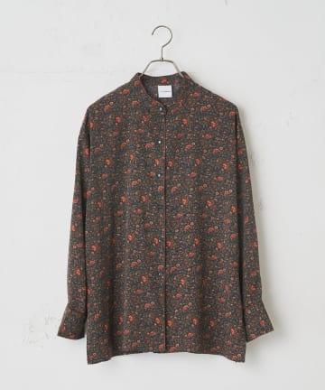 CIAOPANIC(チャオパニック) レトロフラワーバンドカラーシャツ
