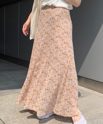 SHENERY(シーナリー) プリントフレアマキシスカート