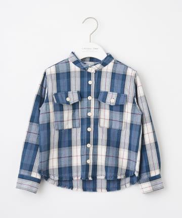 CIAOPANIC TYPY(チャオパニックティピー) 【KIDS】ヘビーネルチェックフリンジシャツ