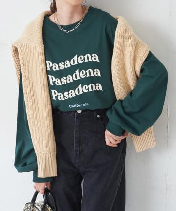 Discoat(ディスコート) ラウンドロゴロングTシャツ