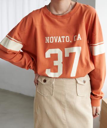 Discoat(ディスコート) 【ARTEX/アルテックス】フットボールナンバリングロングTシャツ