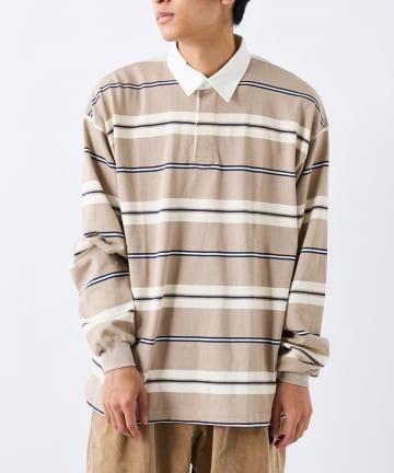 CIAOPANIC(チャオパニック) マルチボーダーラガーシャツ
