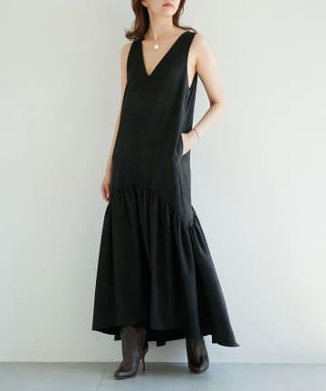 GALLARDAGALANTE(ガリャルダガランテ) 【Drawing Numbers】スエードジャンパースカートドレス