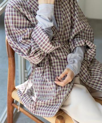 Kastane(カスタネ) 【SETUP対応】チェックSETUP紐付きジャケット