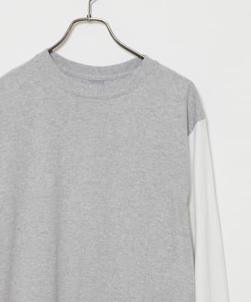 CIAOPANIC(チャオパニック) リメイク袖配色ビッグシルエットロングスリーブTシャツ/WEB限定
