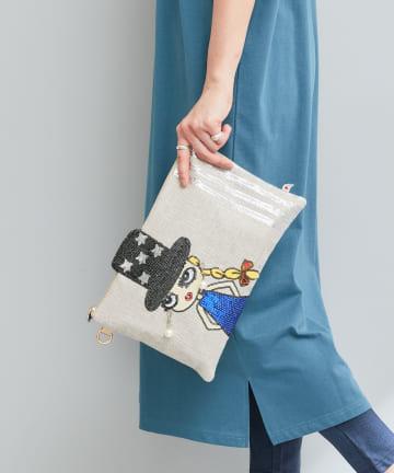 Pal collection(パルコレクション) 《個性派バッグ》ピアスが揺れるショルダーバッグ