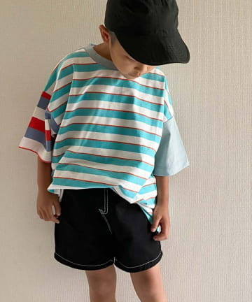 OUTLET(アウトレット) 【CIAOPANIC TYPY】【KIDS】クレイジーボーダーTEE