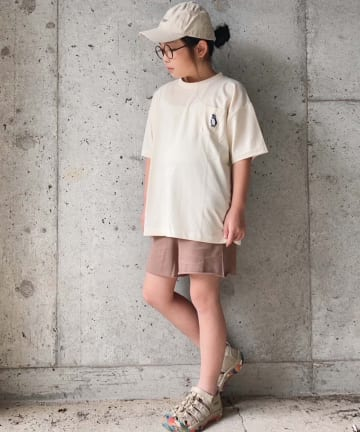 OUTLET(アウトレット) 【CIAOPANIC TYPY】【KIDS】サガラ刺繍接触冷感Tee