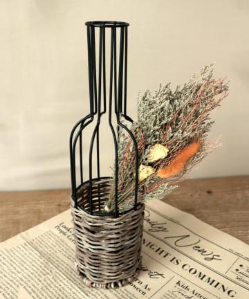 3COINS(スリーコインズ) 【ハロウィンを楽しむお部屋づくり】ビン型ワイヤーフラワーベース