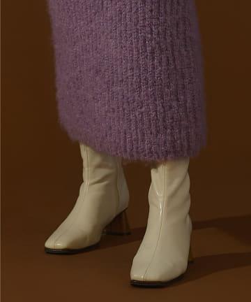 natural couture(ナチュラルクチュール) ウッドヒールデイリーブーツ