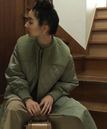 ear PAPILLONNER(イア パピヨネ) 【SUM1 STYLEスミ スタイル】キルティングベスト付き3WAY馬刺繍コート